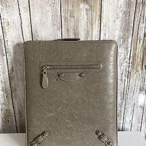 BALENCIAGA iPad Case Studded Leather Sleeve RARE